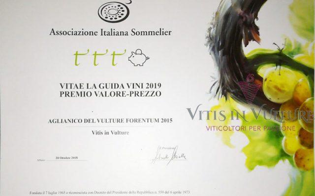 premio Vitae vitis in vulture 2019